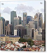 Singapore Skyline Along Chinatown Area Acrylic Print