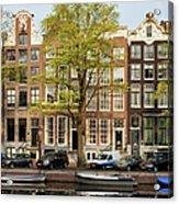 Singel Canal Houses In Amsterdam Acrylic Print