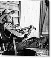 Singing Cowboy Acrylic Print