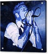 Singing In Blue Acrylic Print