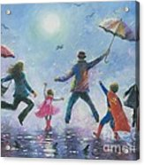 Singing In The Rain Super Hero Kids Acrylic Print