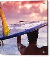 Single Fin Surfer Acrylic Print