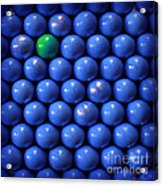 Single Green Ball Acrylic Print