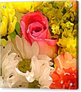 Single Rose Bouquet Acrylic Print