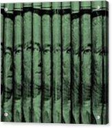 Singles In Light Green Acrylic Print