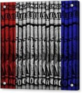 Singles In Red White And Blue Acrylic Print