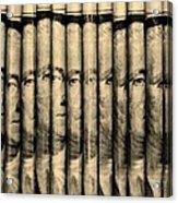 Singles In Sepia Acrylic Print