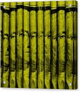 Singles In Yellow Acrylic Print