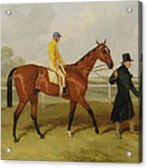Sir Tatton Sykes Leading In The Horse Sir Tatton Sykes With William Scott Up Acrylic Print