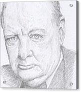 Sir Winston Churchill Acrylic Print