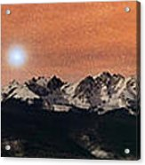 Sirius Diffusion Over The Gore Range Acrylic Print by Mike Berenson