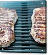 Sirloin Steak On The Barbecue Grill Acrylic Print