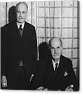 Sirs William And Lawrence Bragg Acrylic Print