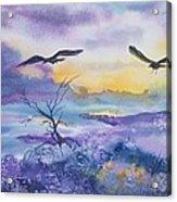 Sister Ravens Acrylic Print