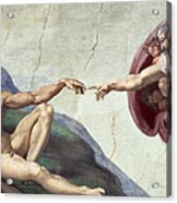 Sistine Chapel Ceiling Acrylic Print by Michelangelo Buonarroti