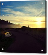 sit With Me And Watch The Sunset Acrylic Print