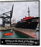 Sitting At The Dock Of The Bay Acrylic Print