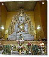 sitting Buddha made from one single marble block in KYAUKTAWGYI PAGODA Acrylic Print