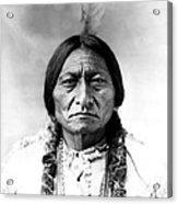 Sitting Bull Acrylic Print by Bill Cannon