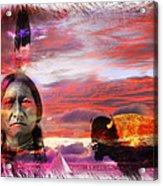 Sitting Bull Acrylic Print by Mal Bray