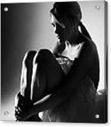 Sitting Dancer Acrylic Print