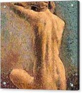 Sitting Nude 3 Acrylic Print
