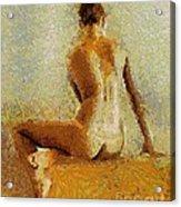 Sitting Nude II Acrylic Print