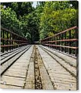 Sitting On A Bridge Acrylic Print
