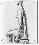 Sitting Woman Study Acrylic Print