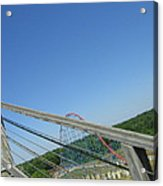 Six Flags America - Roar Roller Coaster - 12122 Acrylic Print