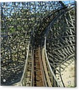 Six Flags America - Roar Roller Coaster - 12125 Acrylic Print