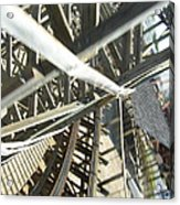 Six Flags America - Roar Roller Coaster - 12127 Acrylic Print