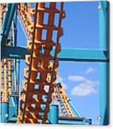 Six Flags America - Two-face Roller Coaster - 12121 Acrylic Print