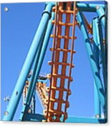 Six Flags America - Two-face Roller Coaster - 12122 Acrylic Print