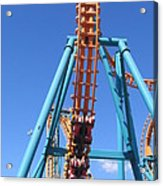 Six Flags America - Two-face Roller Coaster - 12124 Acrylic Print
