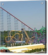 Six Flags America - Wild One Roller Coaster - 12123 Acrylic Print