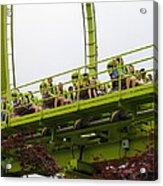Six Flags Great Adventure - Medusa Roller Coaster - 12121 Acrylic Print