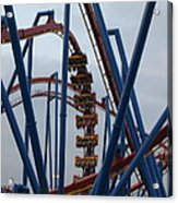 Six Flags Great Adventure - Medusa Roller Coaster - 12125 Acrylic Print