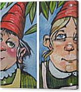 Six Gnomes Horizontal Acrylic Print