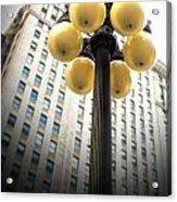 Six Light Lamp Post Acrylic Print