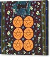 Six Of Pentacles Acrylic Print