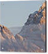 Six Peaks Of The Teton Mountain Range Acrylic Print