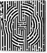 Six Shooter Illusion Maze  Acrylic Print