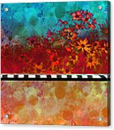 Sizzle Abstract Floral Art Acrylic Print by Ann Powell
