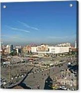 Skanderberg Square In Tirana Albania Acrylic Print