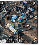 Skateboard Graveyard London England Poster Acrylic Print