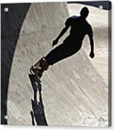 Skateboard Shadow - D001936 Acrylic Print