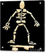 Skateboard Skeleton Acrylic Print