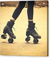 Skates In Motion Acrylic Print