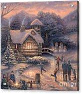 Skating By Twilight Acrylic Print by Chuck Pinson